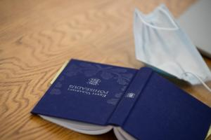 Copy of the Estonian Constitution at a recent constitutional affairs committee sitting at the Riigikogu.