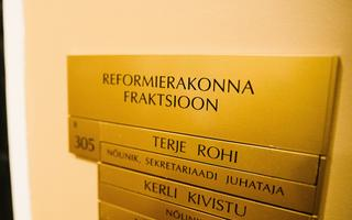 Reform Party's political group rooms at the Riigikogu building.