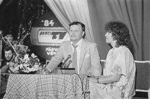 Eesti Televisiooni päevad Võrus: Sulev Nõmmik ja Katrin Kumpan. 1984