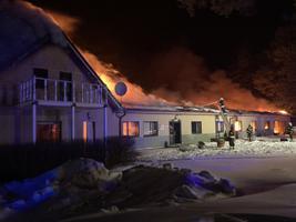 Пожар в пансионате в деревне Аа.