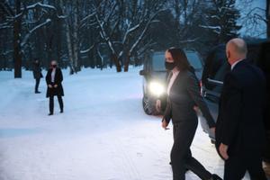 Светлана Тихановская прибыла в Кадриорг.