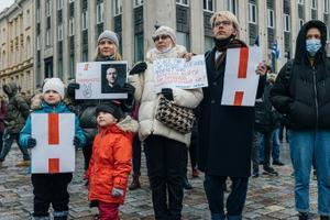 Meeleavaldused Navalnõi vabastamise toetuseks.