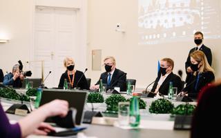 Prime Minister Kaja Kallas' first government sitting.