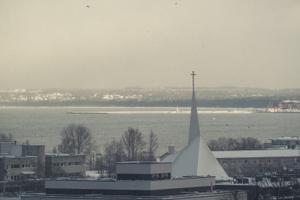 Snow in Tallinn on February 1, 2021.