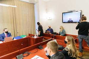 Harju County Court remote hearing in process, weighing up whether to release businessman Hillar Teder.