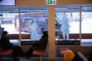 Bussijaamas Christian Ackermanni näitus