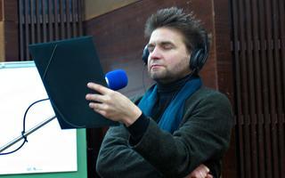Jaak Johanson 2010 Eesti Raadio 1. stuudios Klassikaraadio laulu salvestusel