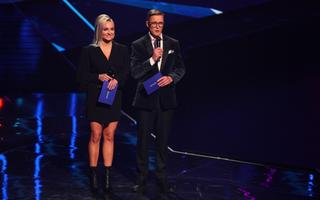 Ведущие Eesti Laul-2021 Грете Кулд и Тынис Нийнеметс.