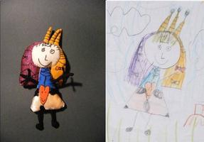 Тийа Метс создала куклы по детским рисункам.