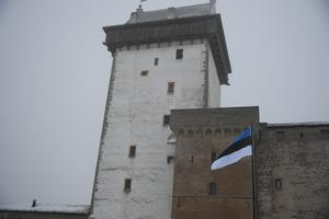 Independence Day flag ceremony at the Narva Castle.
