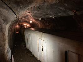 Перевернутые сосульки в Эстонском шахтном музее.