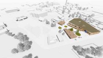 Конкурс на архитектурное решение для государственного и судебного здания в Кярдла. Эскиз Auster.