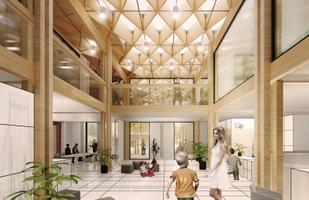 Конкурс на архитектурное решение для государственного и судебного здания в Кярдла. Эскиз Foorum.