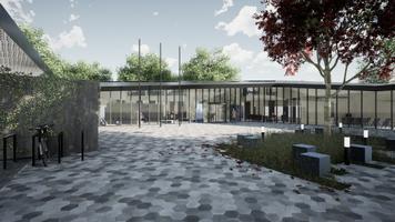 Конкурс на архитектурное решение для государственного и судебного здания в Кярдла. Эскиз Pruht.