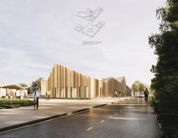 Конкурс на архитектурное решение для государственного и судебного здания в Кярдла. Эскиз Vint.