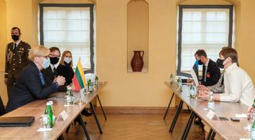President Kersti Kaljulaid's visit to Lithuania, March 3, 2021.