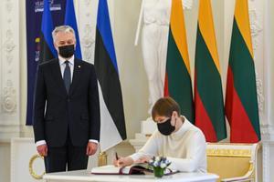President Kersti Kaljulaid visits Lithuania, March 3, 2021.
