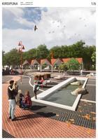 Selgus Sindi keskväljaku arhitektuurivõistluse võitja. Pildil ergutuspreemia saanud kavand