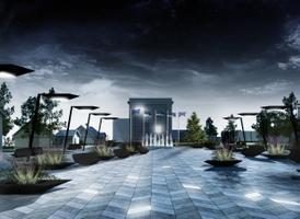 Selgus Sindi keskväljaku arhitektuurivõistluse võitja. Pildil III koha pälvinud ideekavand