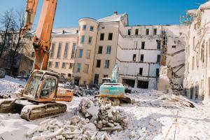 Teatri Maja Residentsis algasid lammutustööd