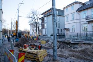 Roadworks on Poska tänav on March 22.