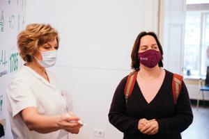 Вакцинация депутатов Рийгикогу. Майлис Репс.