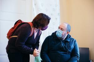 Вакцинация депутатов Рийгикогу. Майлис Репс и Михаил Стальнухин.
