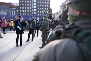 Meeleavaldus Vabaduse väljakul.