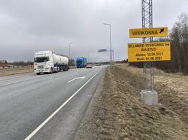 Перестройка перекрестка на шоссе Таллинн - Нарва в Силламяэ.