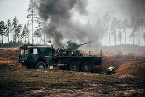 Артиллерийский батальон и Батальон ПВО провели совместные стрельбы.