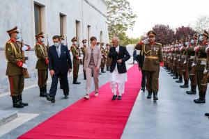President Kersti Kaljulaid in the Afghan capital, Kabul, during her official visit on Wednesday, April 21 2021.