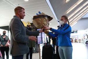 Euroopa meister Epp Mäe saabus kodumaale