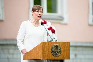 President Kersti Kaljulaid and leader of the Belarusian opposition Svetlana Tsihhanovskaja.
