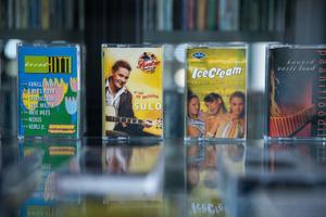 Выставка кассет в Национальной библиотеке.