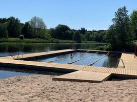 The outdoor pool in Pirita River.