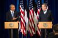 Presidendid Obama ja Ilves ühisel pressikonverentsil Eesti Pangas