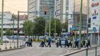 Politseinikud turvamas kesklinna