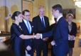 Rootsi kroonprintsess Victoria, prints Daniel, Rootsi suursaadik Eestis Anders Ljunggren ja peaminister Taavi Rõivas