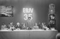 Eesti Televisiooni 20. aastapäeva ja Eesti NSV 35. aastapäeva tähistamine: kõneleb Raadio- ja Televisioonikomitee esimees Raimund Penu.