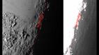 Pluuto valguse ja varju piir nähtuna 80 000 kilomeetri kauguselt.