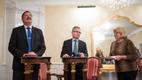 Helsingi linnapea Jussi Pajuneni (paremal) ja Tallinna linnapea kohusetäitja Taavi Aasa pressikonverents Tallinnas 29. novembril 2016.