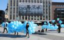 Balloon installation in Tallinn's Freedom Square in memory of the victims of the June 1941 deportations. Occupation and war, combined with Estonia's location, still make up a large part of people's worries.