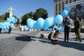 Balloon installation in Tallinn's Freedom Square in memory of the victims of the June 1941 deportations.
