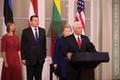 Balti riikide presidentide ja USA asepresidendi pressikonverents.