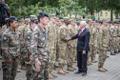 USA asepresident Mike Pence osales Kaitseväe Peastaabis NATO liitlasüksuste rivistusel.