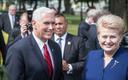 USA asepresident Mike Pence ja Leedu president Dalia Grybauskaite Tallinnas.