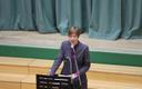 President Jüri koolis loengut pidamas.
