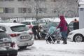 Snowy streets in Tallinn.