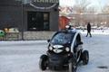 Põhjamaade ilmaoludesse loodud isejuhtiva auto demosõit.