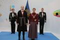 President Kersti Kaljulaid ja Georgi-Rene Maksimovski pidulikul vastuvõtul